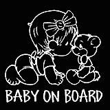 EROSPA® Auto-Aufkleber KFZ - Baby On Board - Mädchen mit