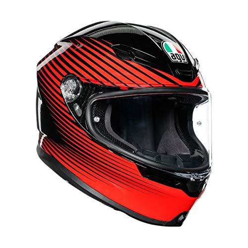 AGV Unisex-Adult Full Face Helmet (Black/Red, Large)