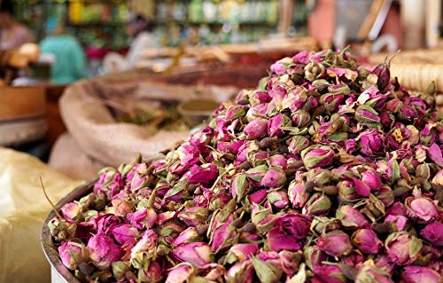CHEF'S TABLE Dried Rose Buds Flower Herb Tea Fragrant Natural Herbal Tea Dried Red Herbal tea Rich In Vitamin A Vitamin C Rose Water Baking Cooking バラ茶 玫瑰 花茶 장미차 4oz(114g)