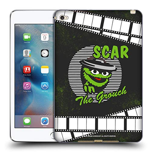 Head Case Designs Officially Licensed Sesame Street Oscar The Grouch Vintage Nostalgia Soft Gel Case Compatible with Apple iPad Mini 4
