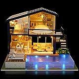 01 Casa en Miniatura, casa de muñecas Divertida, Madera Colorida Decorativa para decoración del hogar, Regalos para niños, Adornos para el hogar, Juguetes para niños(Time Apartment)