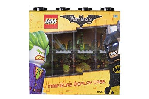LEGO LEGO-4065 Caja expositora para 8 Minifiguras Batman, Contenedor apilable para Pared o Escritorio, Negra, Color, 19.1 x 4.7 x 18.4 cm (40651735)