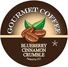 Smart Sips Coffee, Blueberry Cinnamon Crumble, 24 Count, Single Serve Cups Compatible With Keurig K-Cup Brewers