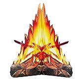 Hoguera Cartón Decorativa 3D, Juguete con Efecto Llama Fuego Artificial Llama Falsa Papel para Fiesta Llama Decorativa para Decoración Fiesta De Halloween, Suministros De Vacaciones