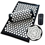 ❤Natural Healing,Healthier❤:Kowth Acupressure Mat and Pillow Set is a Doctor recommended acupressure set that melts away pain, tension and stress in a completely natural and drug free manner. Over 6600 ergonomically engineered spikes activate your bo...