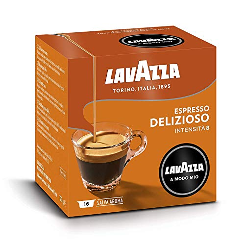 Lavazza A Modo Mio Espresso Delizioso 16 Coffee Machine Capsules (Pack of 6)