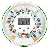 Pointells Automatic Pill Dispenser – 28-Day Portable Medication Planner and Organizer – Dispense...