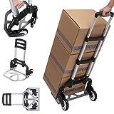 Carretilla de aluminio para subir escaleras, plegable, capacidad de carga de 100 kg, transporte rápido y fácil (tipo 2)
