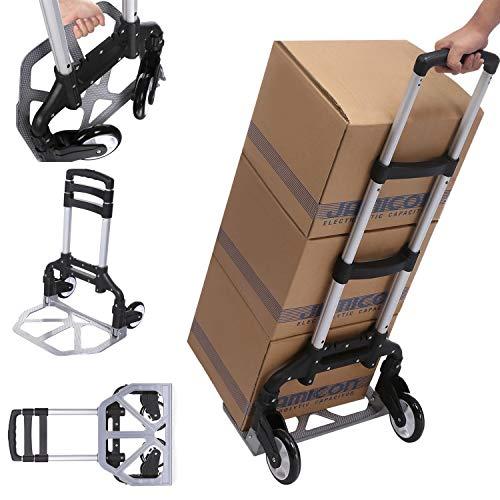 De aluminio para subir escaleras carretilla carro plegable Resistencia 100kg mano Tranvía más rápido y fácil de transportar.