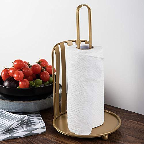 Keukenrolhouder - Vrijstaande creatieve ijzeren papieren handdoekhouder Goud
