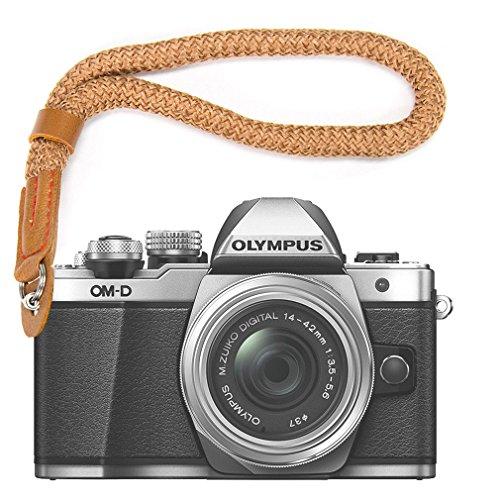 marrón Cámara Digital Correa muñeca Brazalete algodón Suave cámara Correa para Fujifilm XE3 X100F X100T X100S XT20 XT10 XT3 XT2 XT1 X70 X-Pro2 X-Pro1 X-E2S XE2 X30 X20 X10 XF1 etc