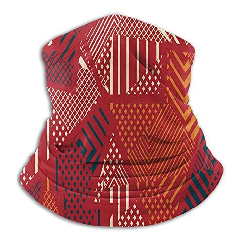 Más cálido cuello polaina abstracto rojo tribal geométrico máscara para hombres mujeres bandanas para pesca caza deportes