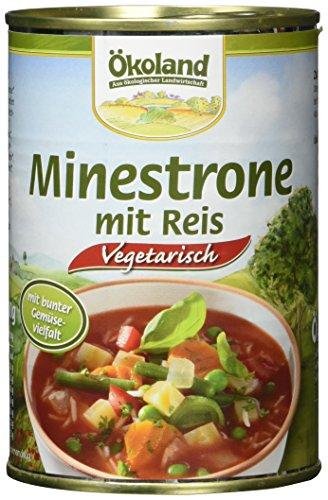 ÖKOLAND Minestrone mit Reis, 6er Pack (6 x 400 g)