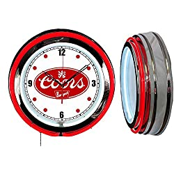 Checkingtime LLC 19 Coors Banquet Beer Sign Neon Clock, RED Outside Tube, Two Neon Tubes