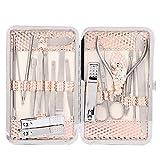 Juego de manicura de 18 piezas, kit de cuidado de uñas para el cuidado de los pies, cuidado de las manos y cuidado facial para satisfacer todas las necesidades, herramienta de pedicura acero inoxid