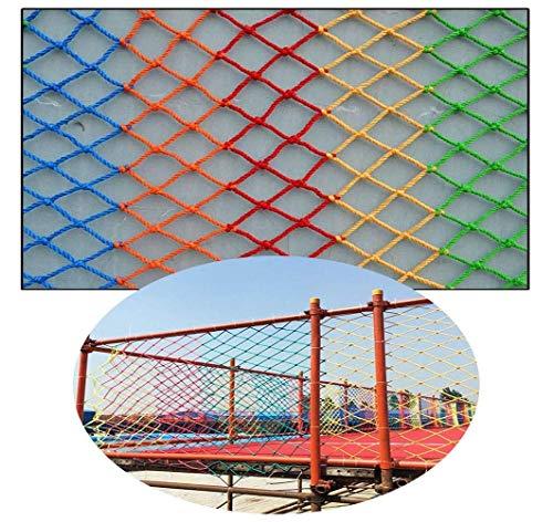 HJRD Balcony Protective Net, Stair Anti-fall Net, Children Climbing Safety Net, Garden Fence Net, Kindergarten Decorative Net, Cat Net, Anti-fall, Colored Nylon Rope Net