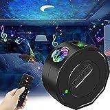 LXMIMI Proiettore Stelle, Riproduzione Musicale Bluetooth Lampada Proiettore Stelle, Nebula Luce & Luna LED Proiettore Cielo Stellato con Telecomando per Soffitto Camera Letto per Adulti Bambini
