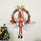 BUANFUA Corona de flores de Navidad de 30 cm con corona de festival para puerta delantera, boda, pared, decoración del hogar