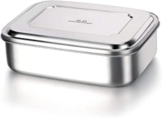 G.a HOMEFAVOR 1800ml Stainless Steel Bento Lunch Box Food Container with Three Compartments, Large Size