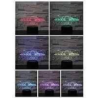 3D LED錯視ランプ タンクナイトライトタッチセンサー装飾ライト子供キッズフェスティバルギフトテーブルランプ寝室ワールドオブタンクス