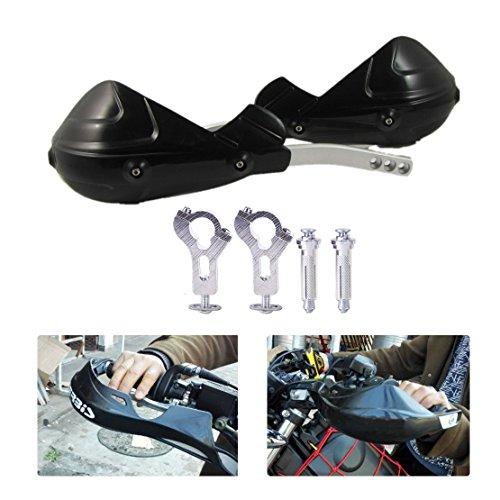 Juego de protectores de manos Paramanos Guardamanos para moto (2 unidades, 22 mm, 7/8, modelo universal), color negro