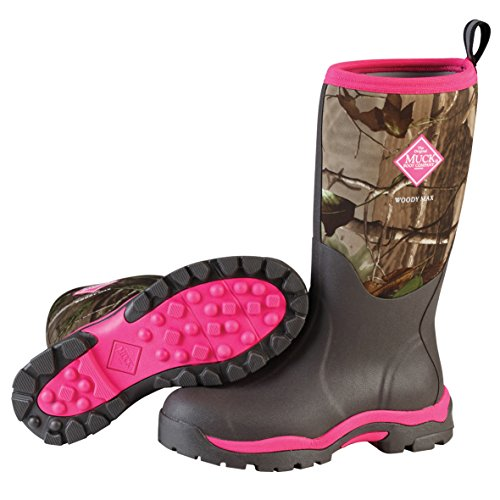 Muck Boot womens Woody Pk Hunting Shoes, Bark, Realtree Xtra/Hot Pink, 8 US