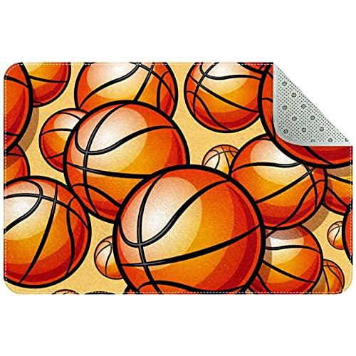 LORVIES Doormat Custom Indoor Welcome Door Mate, Painted Deportivo, Baloncesto, Pattern Home Decorative Entry Rug Garden/Kitchen/Bedroom Mate No Rubber 24 x 16 pulgadas