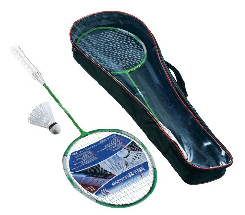 Happy People Unisex Jugend Badminton-Set-74191 Badminton-Set, Mehrfarbig, 65cm