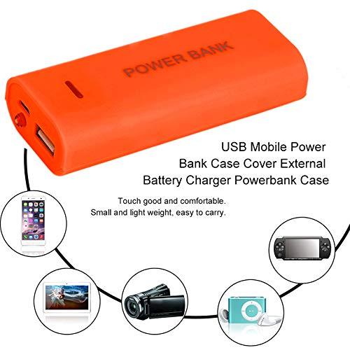 Multicolor Opcional USB Mobile Power Bank Funda Funda Nuevo portátil 5600mAh Cargador de batería Externo Powerbank Funda - Naranja