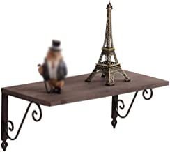 Home decoration display rack/Retro Wall Solid Wood Partition Wall Hanging Word Shelf Wrought Iron Bookshelf Decoration Frame