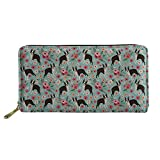 FANCOSAN PU Leather Wallet for Women Girls Cute Animal Multi-Card Holder Clutch Bag Purse, Pattern-38, One Size