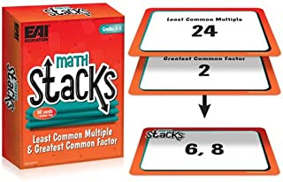 EAI Education Math Stacks Least Common Multiple & Greatest Common Factor Game: Grades 3-5