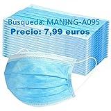 MaNMaNing Protección 3 Capas Transpirables con Elástico para Los Oídos Pack 200 unidades...