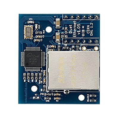 FYSETC 3D Printer Controller Board Parts Cloned Duet Ethernet Module V1.05 Ethernet Networking Module with Mounting Standoffs Pin Headers for Duet WiFi Ethernet Providing Ethernet Connectivity