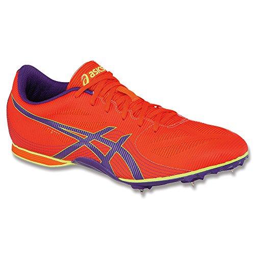 ASICS Hyper-Rocketgirl 7 Cross Country Spike Zapato para mujer, naranja (Naranja/Morado Oscuro/Amarillo Flash), 40 EU