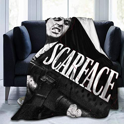 MHOONOW Scarface ALpacino Ultra-Soft Micro Fleece Throw Blankets for Couch/Living Room/Warm Winter Fur Plush Throw Blanket for Adults Kids