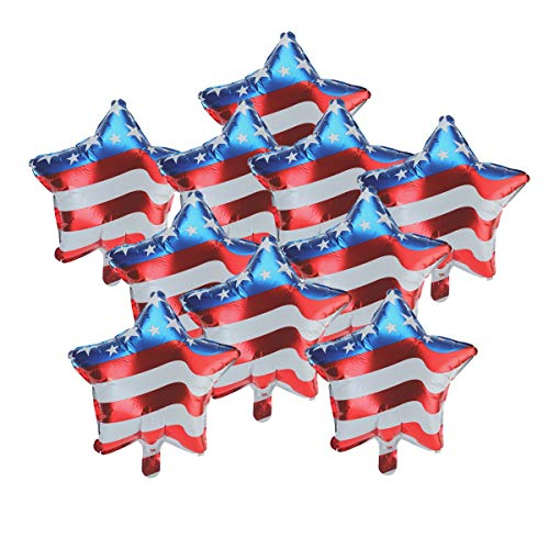 BinaryABC 4th of July Balloons Patriotic Balloons,Fourth of July Independence Day Decorations,18 inch,10Pcs