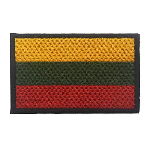 ShowPlus Aufnäher mit Litauen-Flagge, Militär, bestickt, taktischer Patch (Litauen)