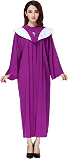 Unisex Priest Costume Pastor Christian Church Choir Robes Upgrade
