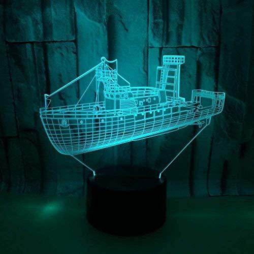 3D-illusie-lamp, lamp, licht, Boeddha, voor kinderen, jongens, meisjes, kamer (geschenken voor verjaardagen, Valentijnsdag, Kerstmis, zwart)