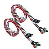 56Tiankoou - 2 cables 3 en 1 para ordenador de sobremesa ATX para reiniciar on/off LED Switch Power cable / 55 cm