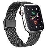 Mugust Acciaio Cinturino Compatibile con Apple Watch Cinturino 38mm 40mm 42mm 44mm , Magnetico Cinturini di Ricambio Traspirante...