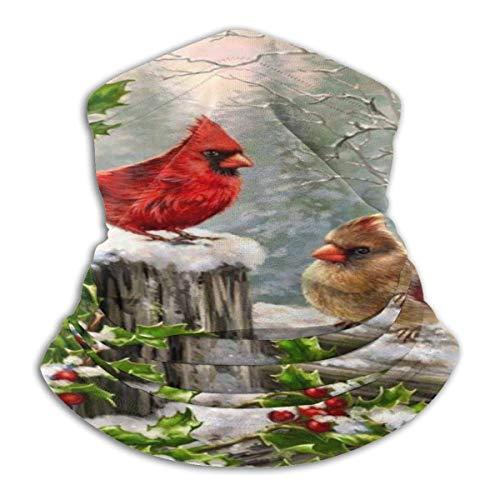 Willekeurige Hop Winter Kardinaal Vogels Fleece Hals Warmer Hals Gaiters Unisex