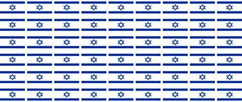 Mini Aufkleber Set - Pack glatt - 20x12mm - Sticker - Fahne - Israel - Flagge - Banner - Standarte fürs Auto, Büro, zu Hause und die Schule - 54 Stück