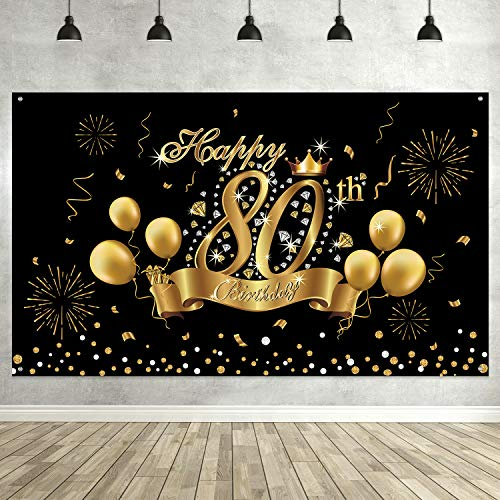 80th Birthday Banner/Photo Booth Backdrop