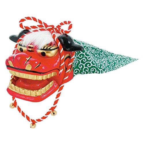獅子頭-鈴付(LL)(DE1370LL)[お正月 獅子舞 飾り 装飾 ディスプレイ]