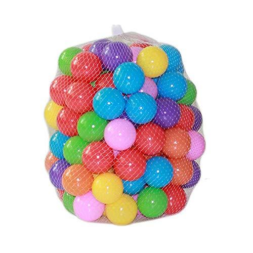 ZZM 100 Bolas de Colores Plástico Pelotas Multicolores del Océano Respetuoso del...