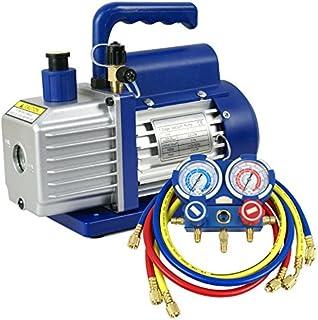 Super Deal 3.5CFM/4CFM/5CFM 1/4HP Air Vacuum Pump HVAC Kit AC A/C Manifold Gauge Set (3.5CFM+Manifold Gauge)
