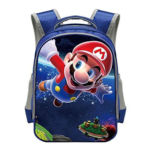 Bolsa de ordenador portátil Mario Cartoon Mario Mochila para niños de 3 a 6 años de edad Kindergarten Mochila de niños Bolsas de escuela para adolescentes Niños Bolsa de libro