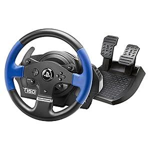 Thrustmaster T150 volante de carreras ergonómico con un juego de 2 pedales – Compatible con PS4 y PC – Funciona con…